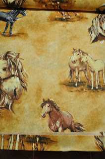 dětská látka koně