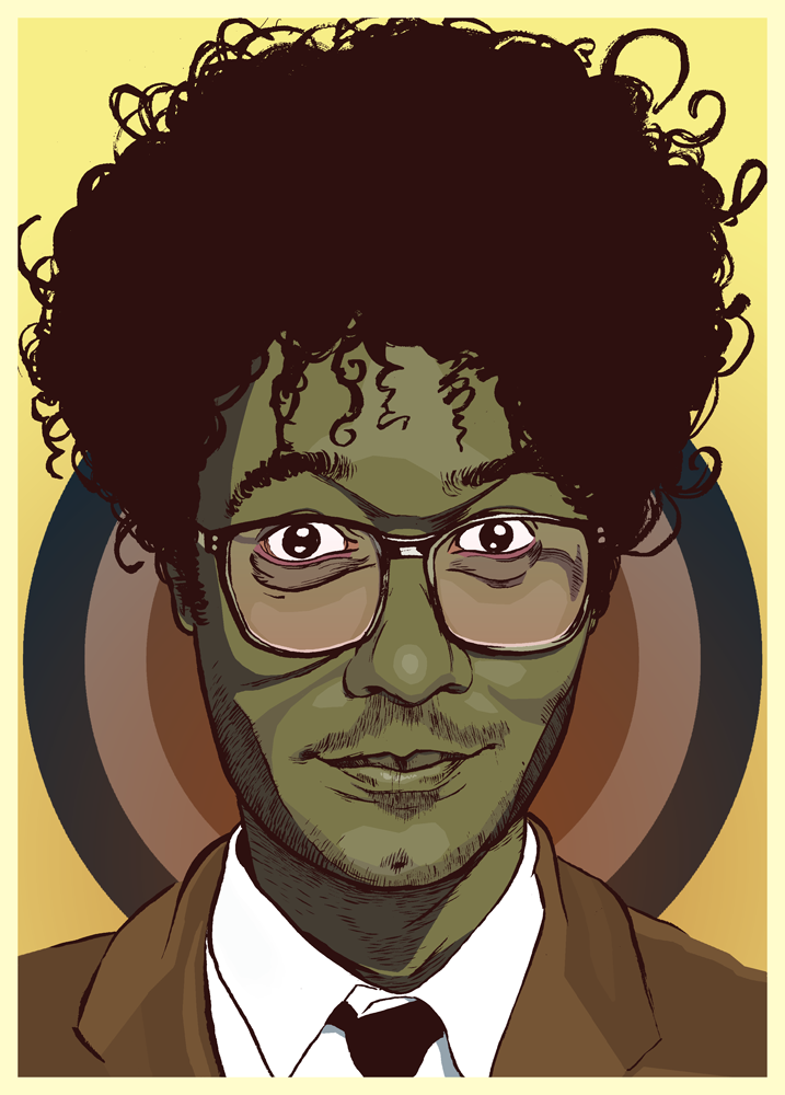 Moss from the IT crowd illustration