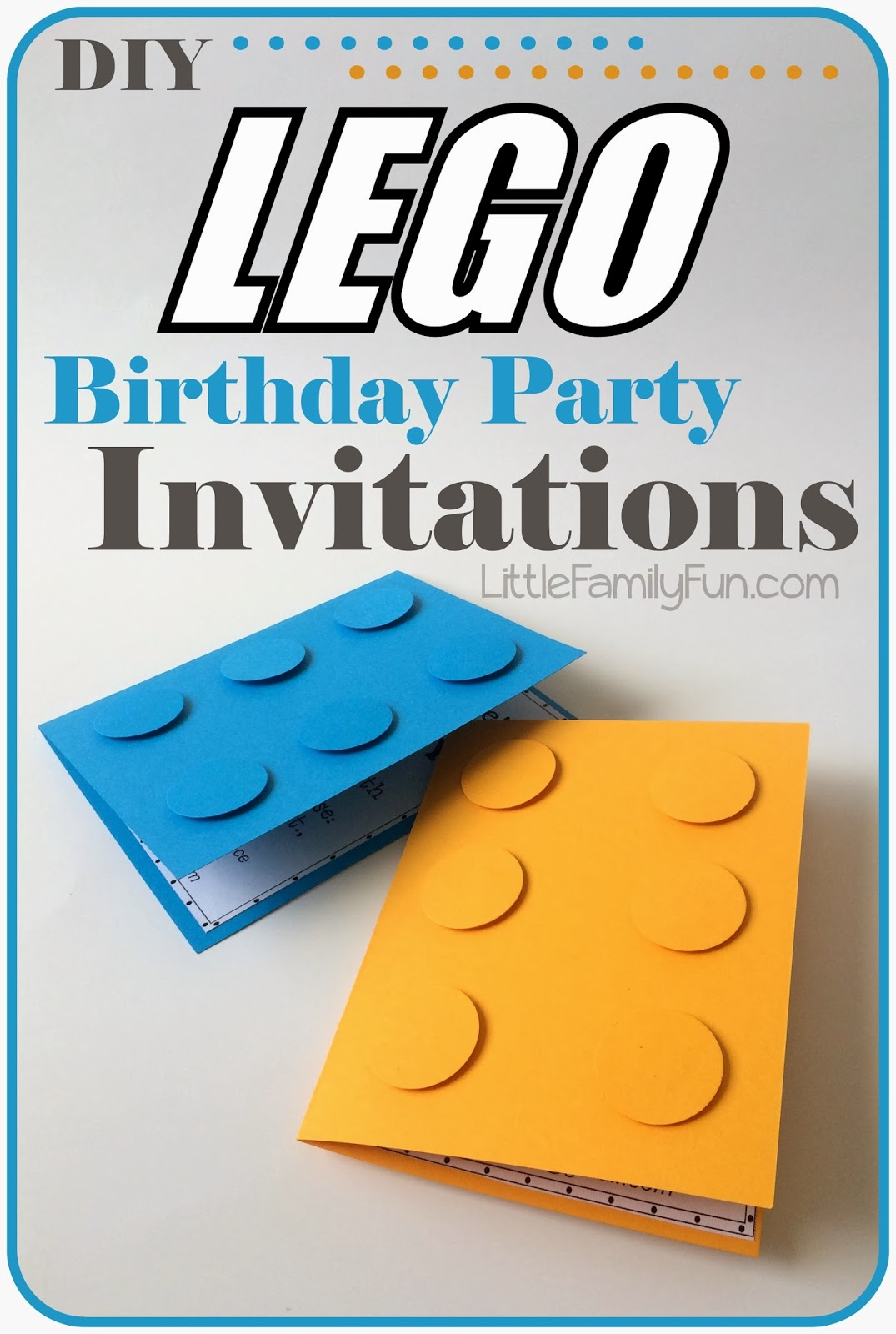 Little Family Fun Lego Party Invitations