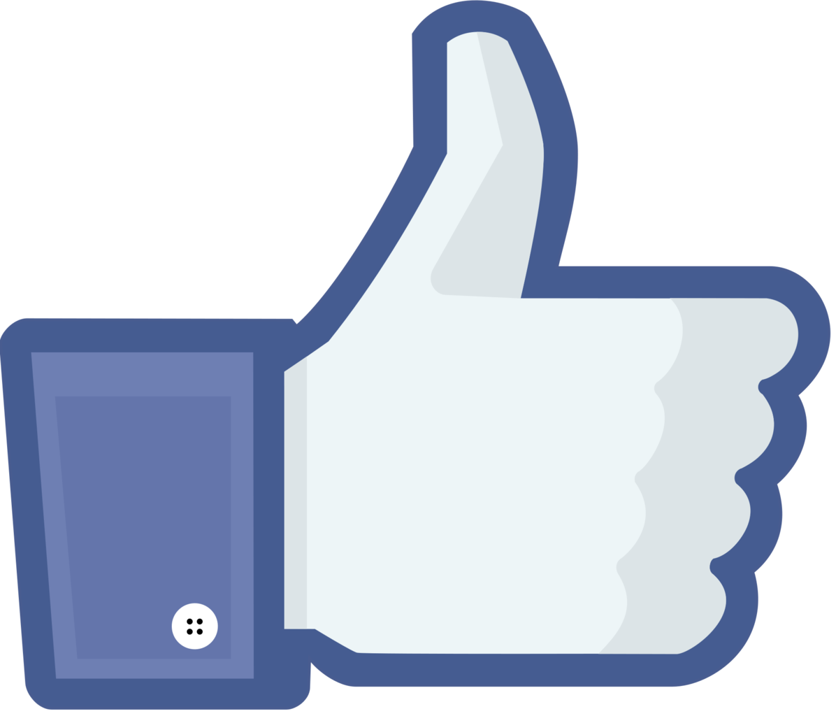 Facebook's thumbs up Like symbol