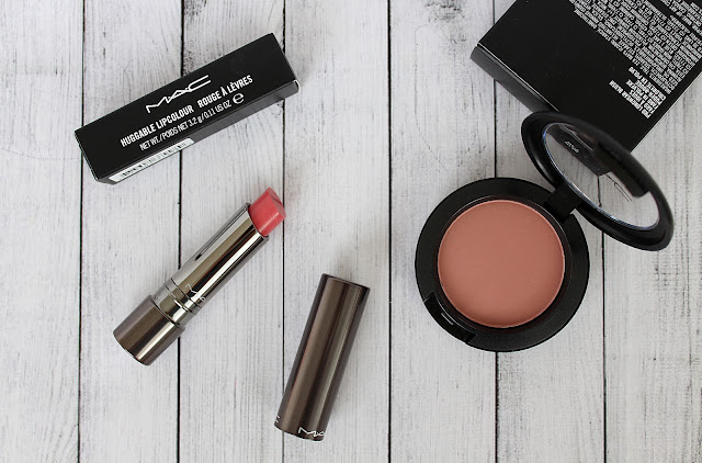 MAC lipstick review, MAC blusher review, MAC Huggable Lip Colour Im In swatches, MAC Blush All Day review and swatches, MAC swatches, beauty reviews, make up reviews