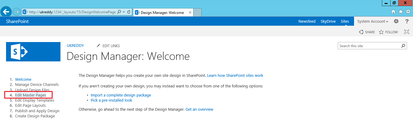 UKReddy SharePoint Journey: How to add web part to master page in ...