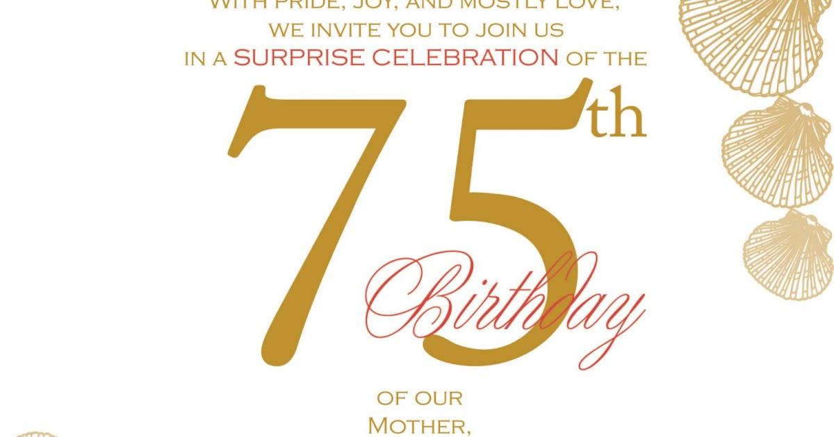 75Th Birthday Party Invitation – 75th Birthday Party Invitations