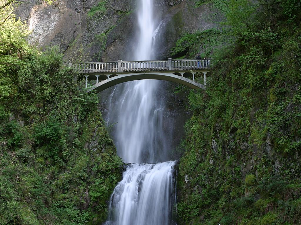 Puente y cascada