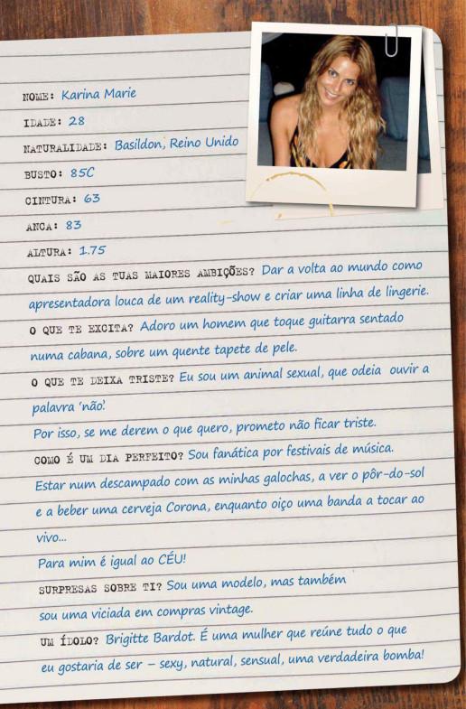 Playmate Karina Marie numa na Playboy Portugal