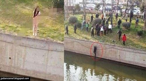 Lelaki Ini Diabaikan Setelah Selamatkan Wanita Tanpa Pakaian Terjun Ke Sungai