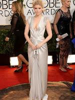 Кейт Мара в елегантна права рокля с драперии на J Mendel - Златен глобус 2014