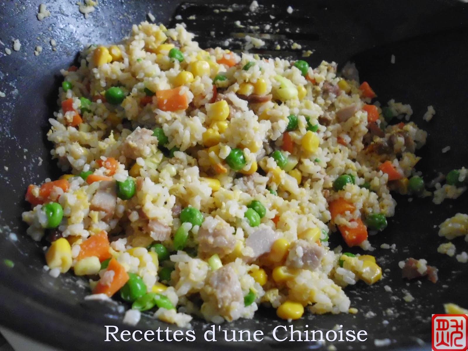 Le riz cantonais 广式炒饭 guǎngshì chǎofàn