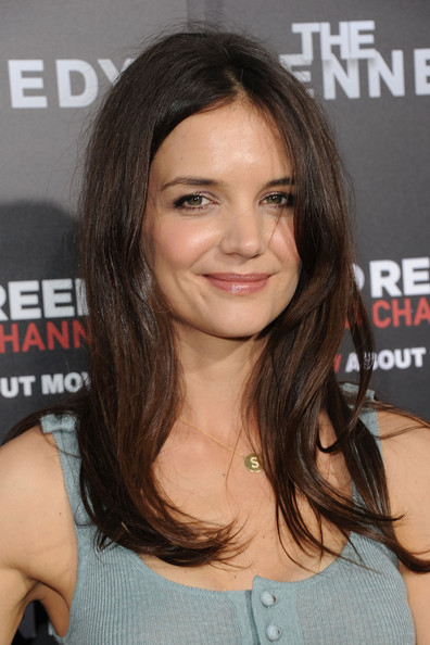 Katie Holmes Long Straight Hairstyle