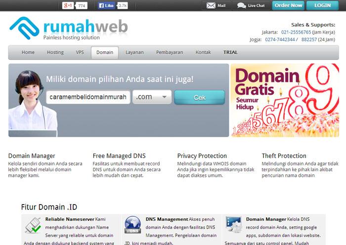 Cara Membeli Domain Cek Ketersediaan