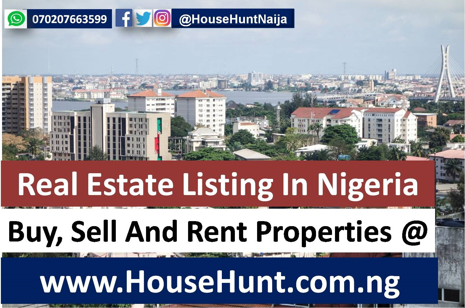 Buy, Sell, Rent Properties At www.HouseHunt.com.ng