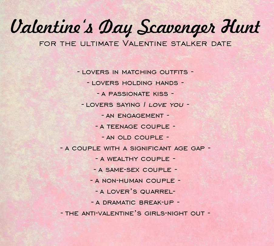 valentine's day for valentine sceptics | scavenger hunt & diy love, Ideas