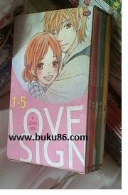 Komik Love Sign Bekas Lengkap