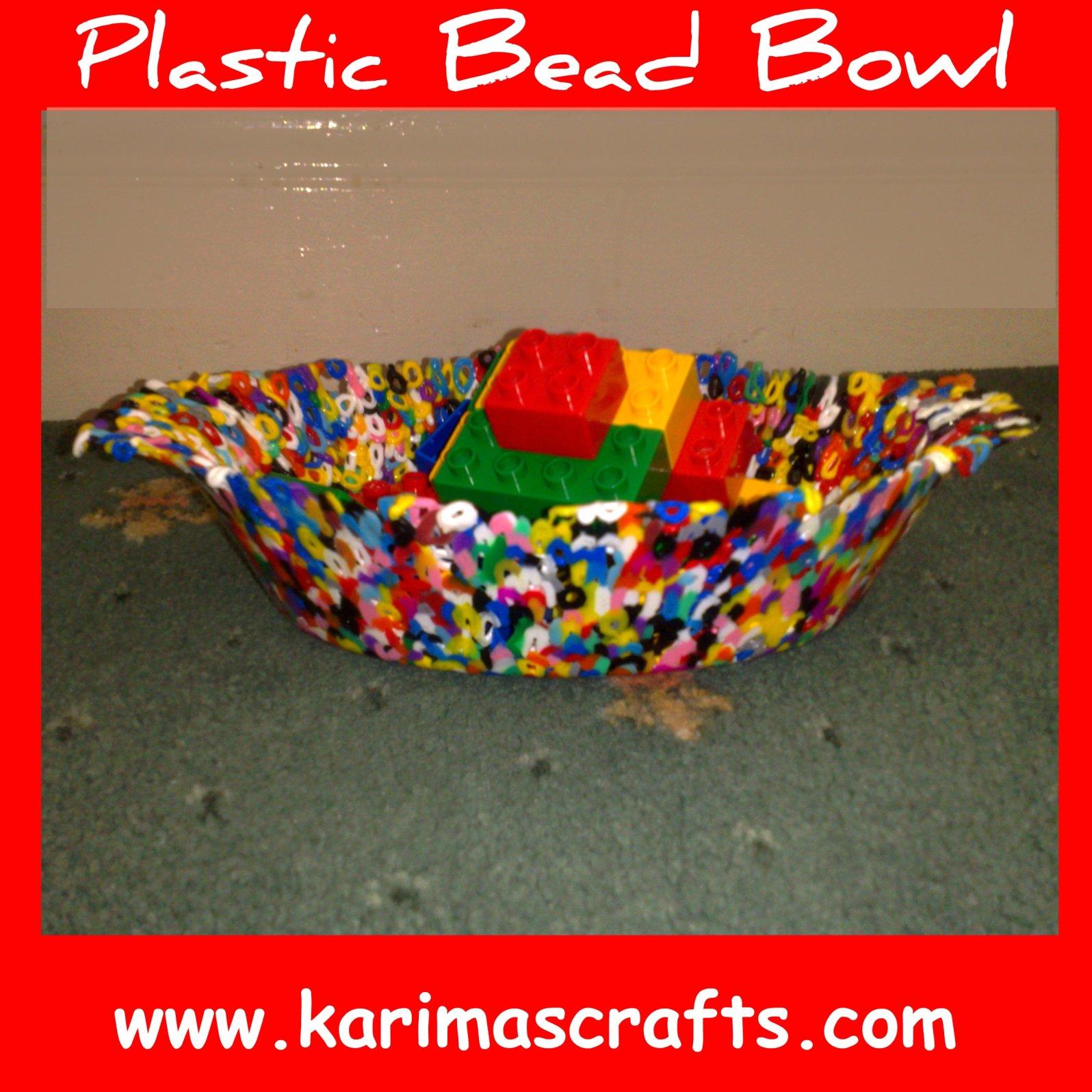 Plastic beads for crafts - Plastic Bead Bowl Tutorial