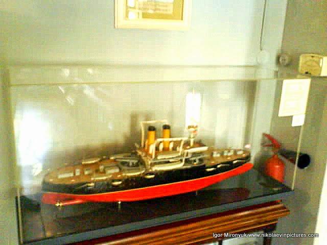 """Первый корабль-броненосец """"Екатерина II"""", построенный в Николаеве (1888 год)."""