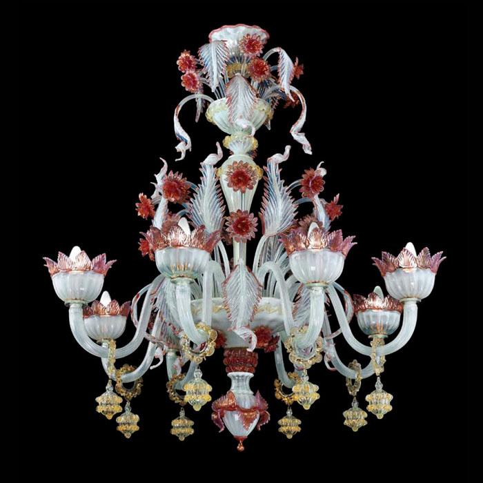 lampadari romantici : Shabby chic chandelier lampadario vetro murano MYL10