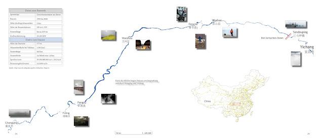 Karte des Drei-Schluchten Projektes