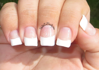 Acrylic nails with french manicure