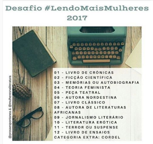 #LendoMaisMulheres2017