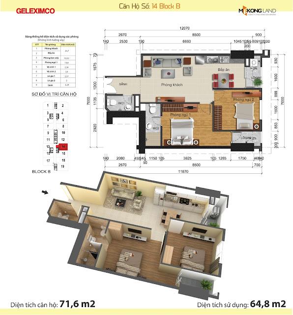 Thiết kế căn hộ Gemek