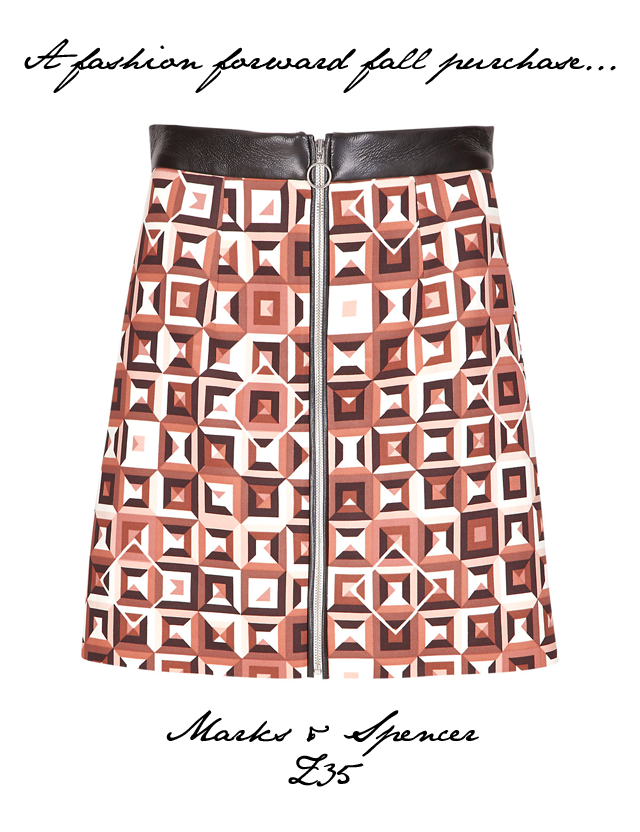 marks and spencer geometric skirt