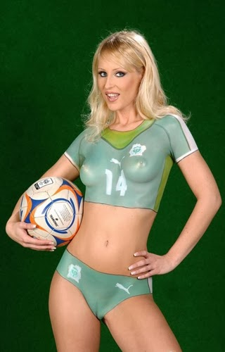 Female Soccer Body Painting