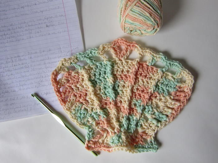 Crochet Is The Way Making The Scallop Seashell Washcloth Part Six