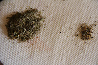 herbs on a paper towel