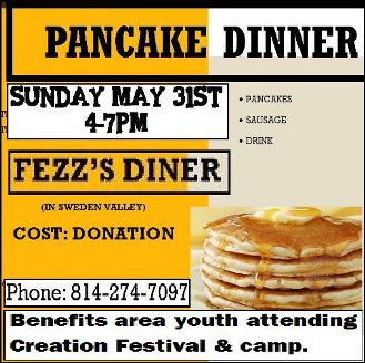 5-31 Pancake Dinner Benefit