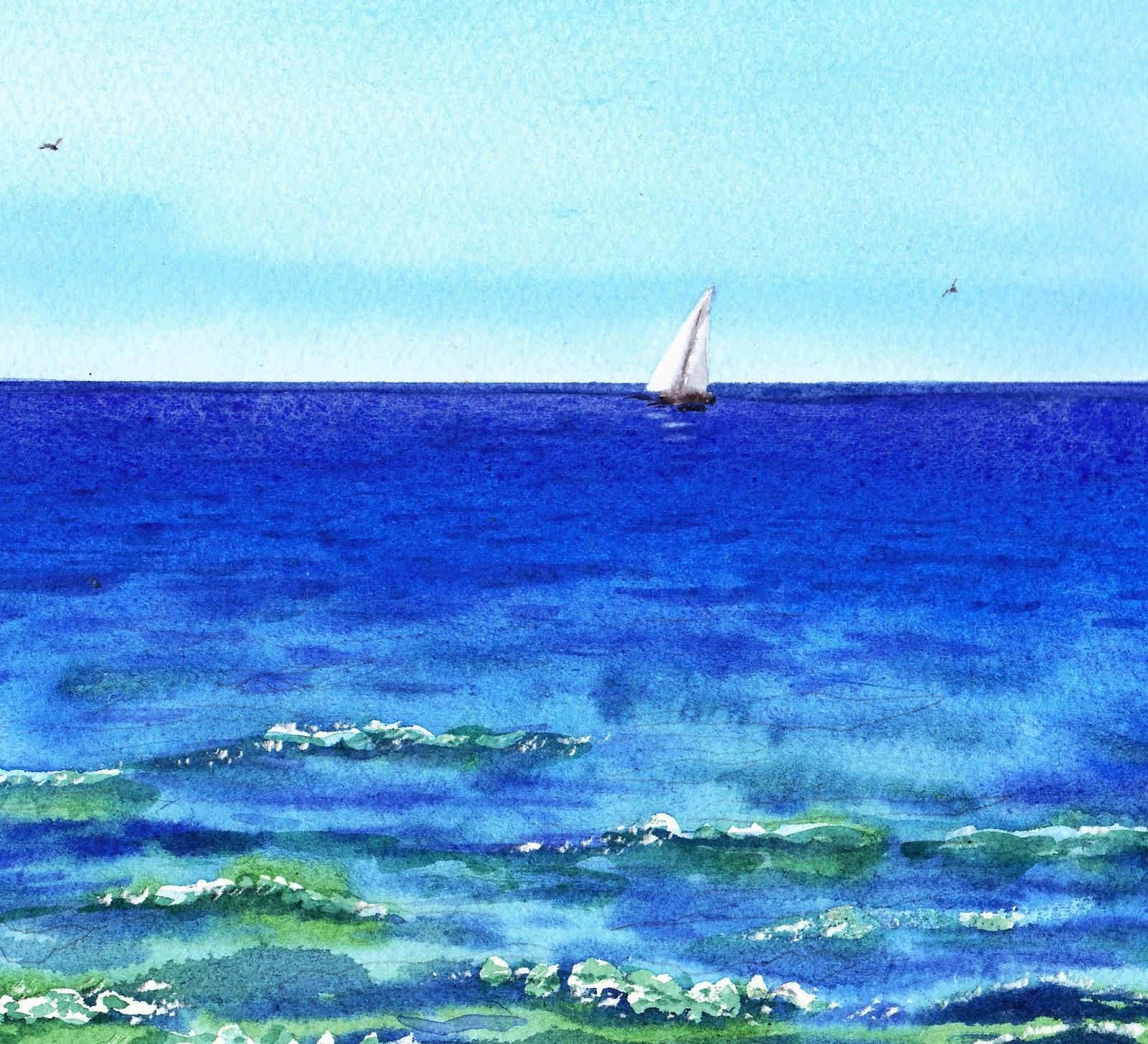 watercolor water