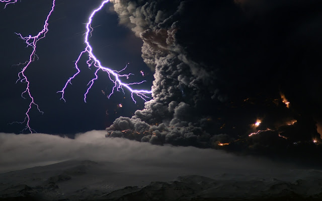Lightning Fire and Smoke