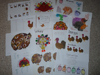 turkey thanksgiving worksheets