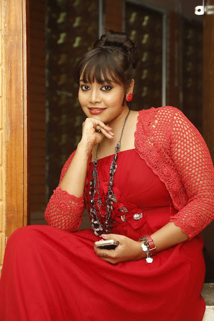 Anusha Latest Photos in Red Dress