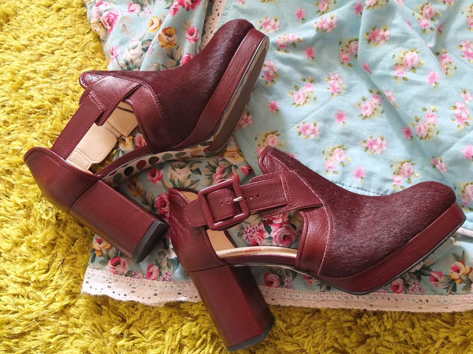 Orla Kiely Dilly Shoes from the AW14 collection at Clarks on UK fashion blog, Hello Terri Lowe.