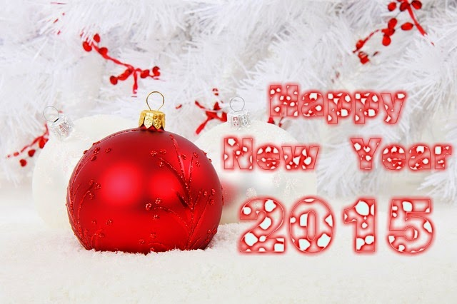 Shiny Christmas Balls Happy New Years Wishes Wallpapers 2015