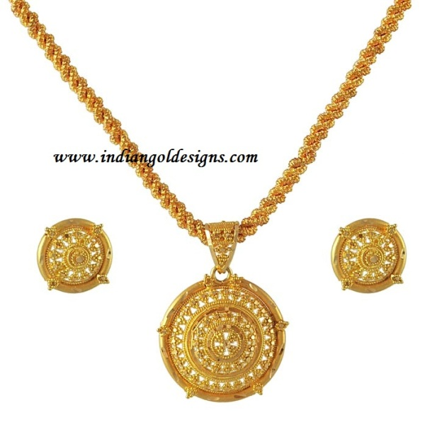 gold and diamond jewellery designs simple gold pendant set