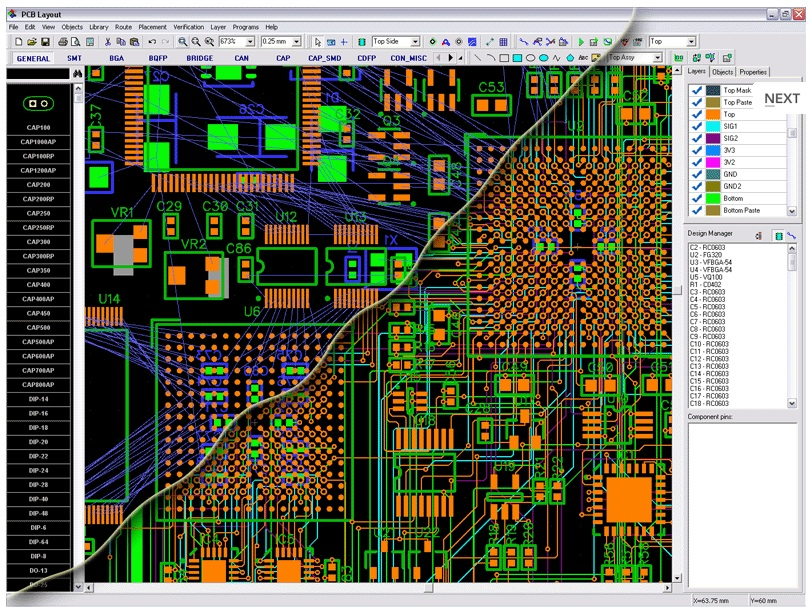DipTrace is an advanced PCB design software application that consists of 4