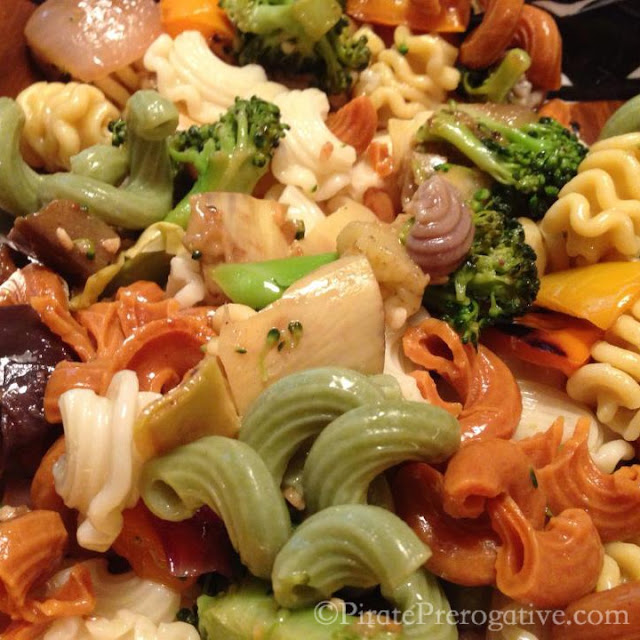 Pasta loaded with healthy veggies