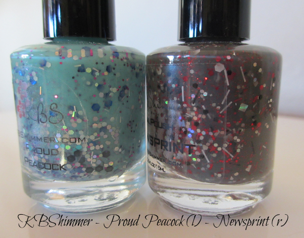 KBShimmer Proud Peacock and Newsprint