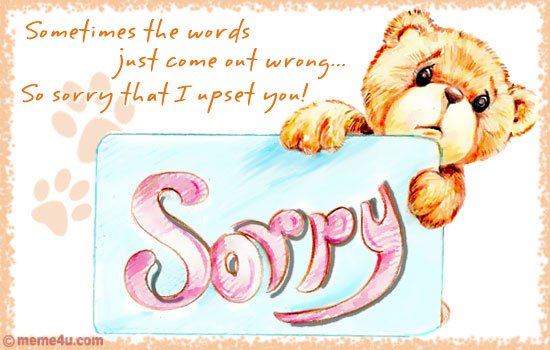 I am Sorry to Display Pictures of Sorry Cards – Apology Card Messages
