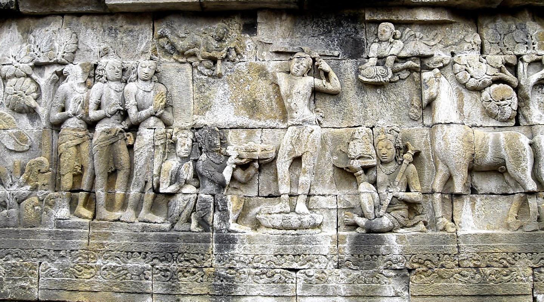 Salah Satu Relief di Candi Borobudur
