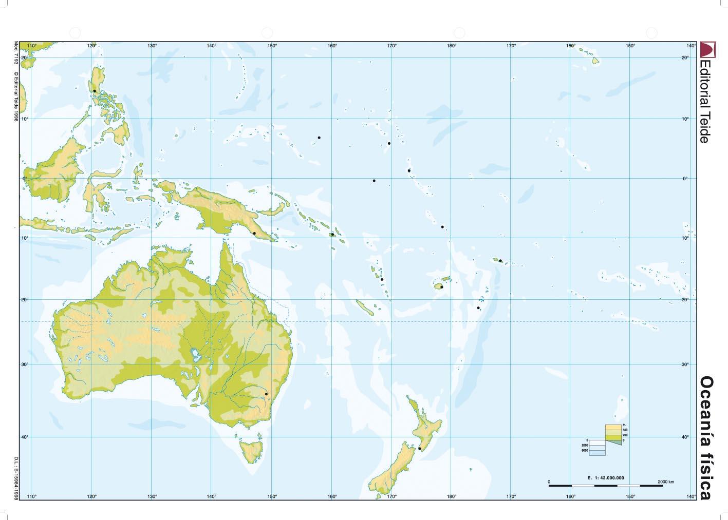 El blog de Sociales Mapa fsico Oceana