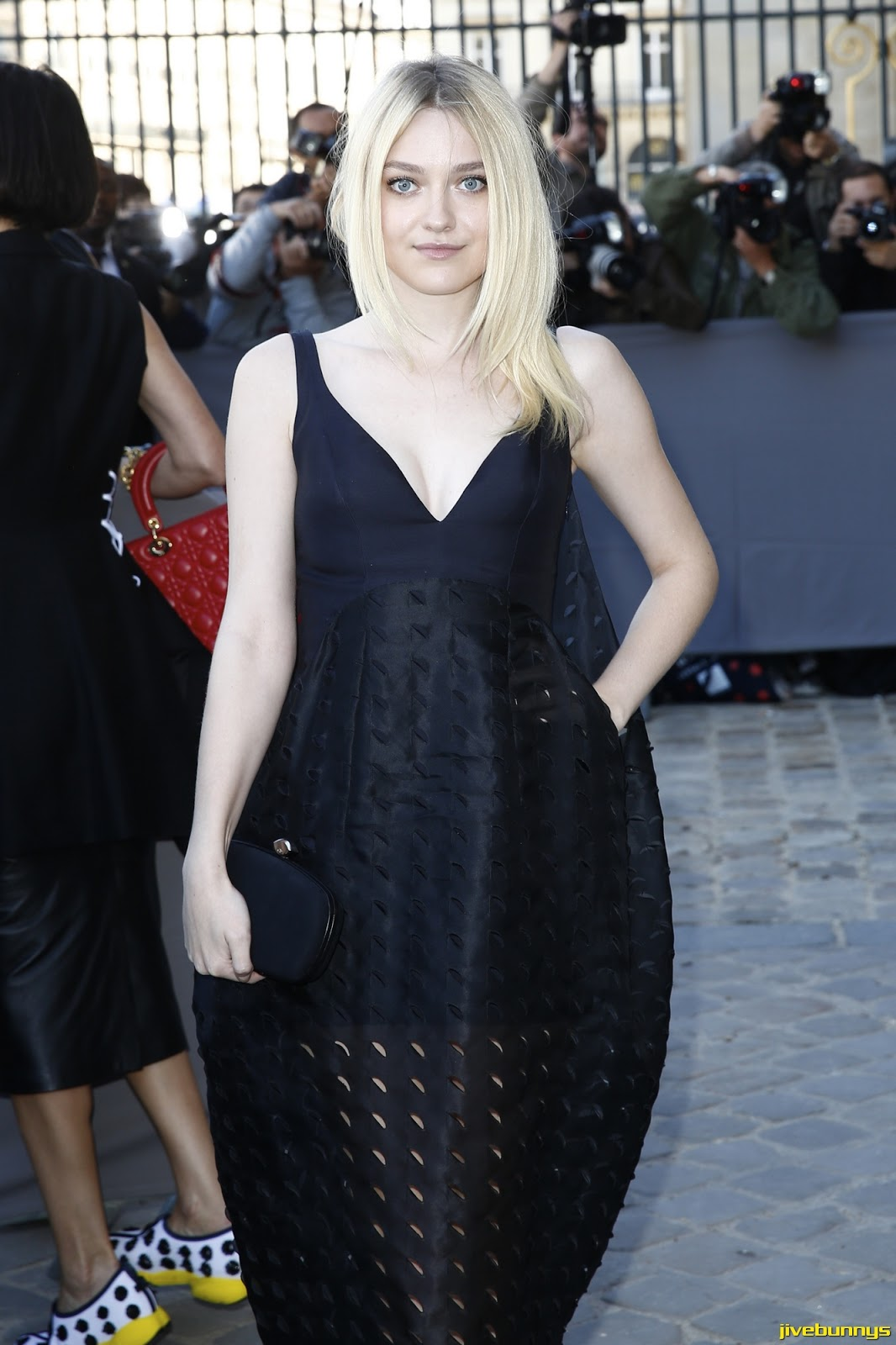 Dakota Fanning - At the Christian Dior show at Paris Fashion Week in Paris - 9/26/14