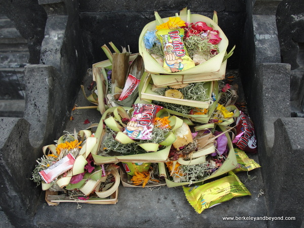 shrine offerings in Bali