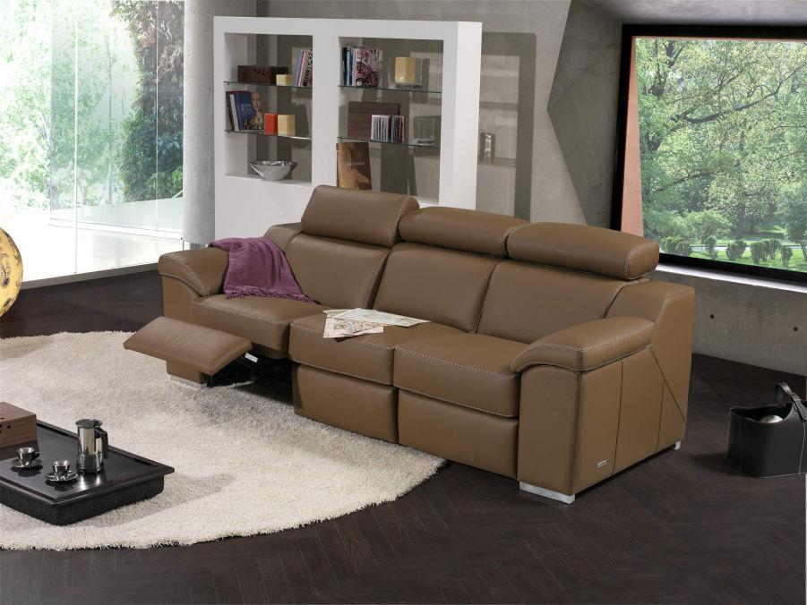 Llar del modul sofas sal n en piel for Sofa de 4 plazas medidas