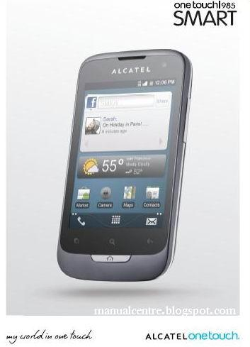 Alcatel OT-985 Manual / User Guide Cover