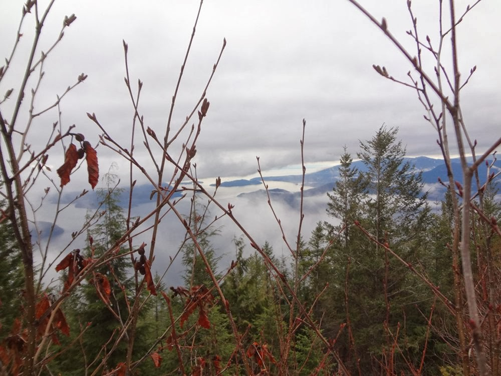 View of Howe Sound and islands from Brunswick Mountain