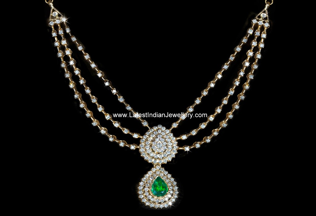 Diamond Step Design Elegant Necklace
