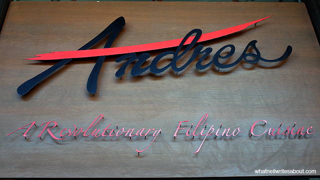 Neil Writes About Andres Restaurant Philippines Review Signage