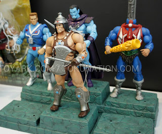 Mattel Matty Collector 2013 Toy Fair Display - Masters of the Universe MOTU Classics Stackable Block Stands